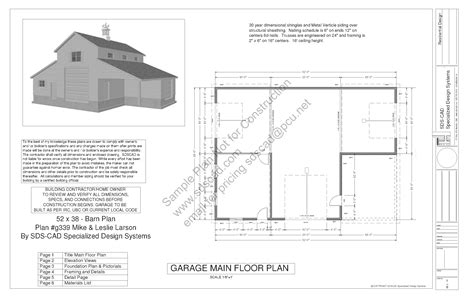 free pole barn plans blueprints free sle barn plan download g339 52 x 38 barn plan
