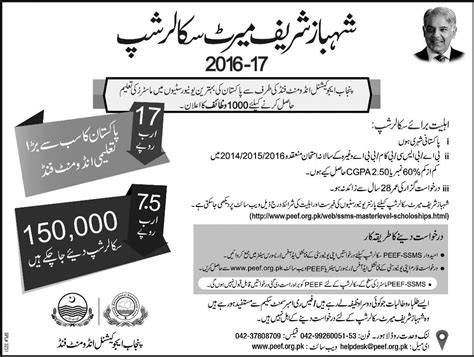Scholarships For Mba Students In Pakistan by Ssms Masters Level Scholarships For Pakistan Students