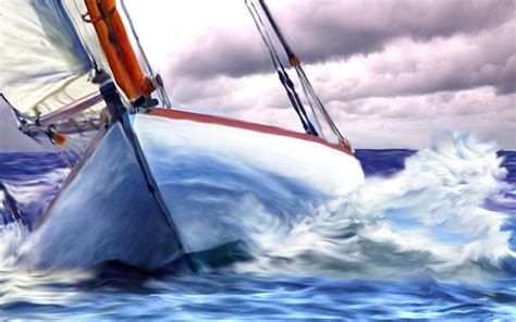 sailboat in storm small boat in big storm sailboat art by tom sachse