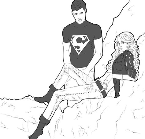 The Gallery For Gt Superboy And Wondergirl Relationship Superboy Coloring Pages