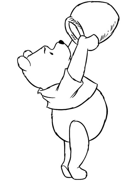 honey bear coloring pages pooh the bear eat delicious honey coloring pages pooh the