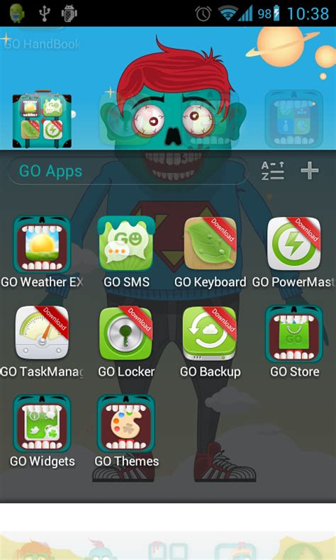 download themes zombie zombie theme go launcher free android app android freeware