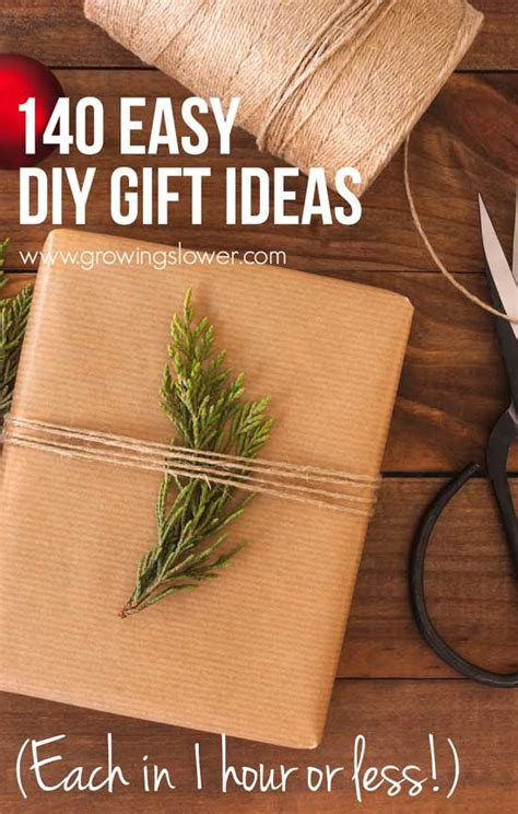 One Year Gifts For Easy by 140 Easy Diy Gift Ideas In One Hour