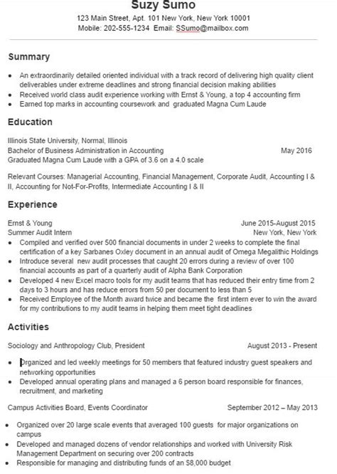 Effective Resumes by A Effective College Student Resume Sle And Tips