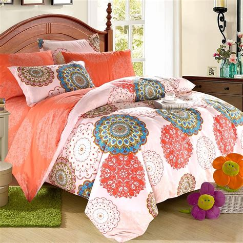 turquoise and coral bedding coral pink and turquoise western tribal print bohemian