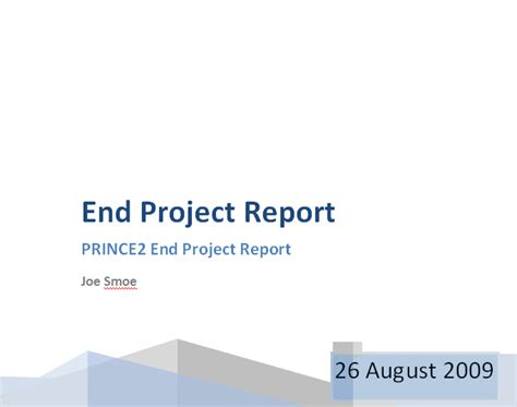 end of project report template prince2 end project report project closure report