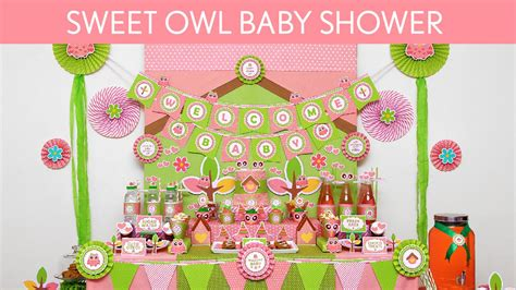 Owl Decoration For Baby Shower by Sweet Owl Baby Shower Ideas Sweet Owl S41
