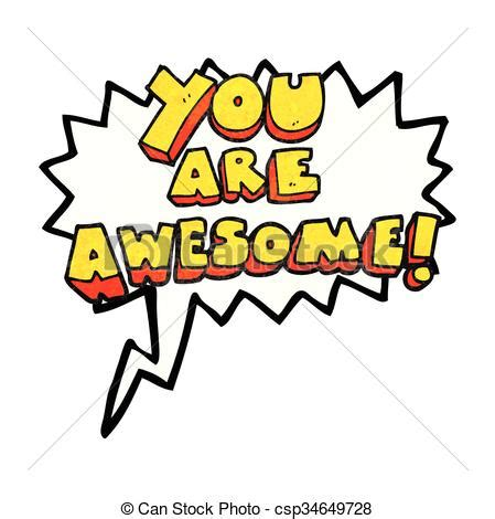 you are awesome clipart freehand speech textured you are awesome text