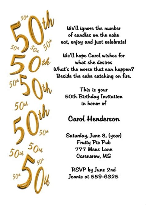 surprise 50th birthday party invitation wording vertabox com