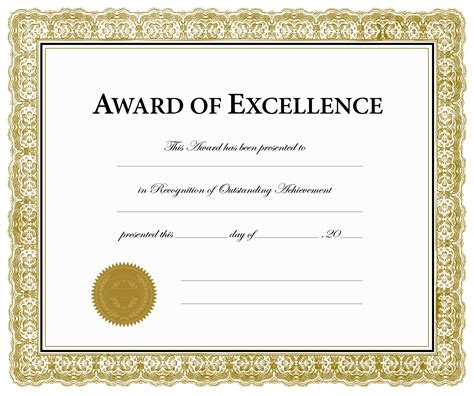 certificate of excellence template awards certificates templates 28 images proof of receipt