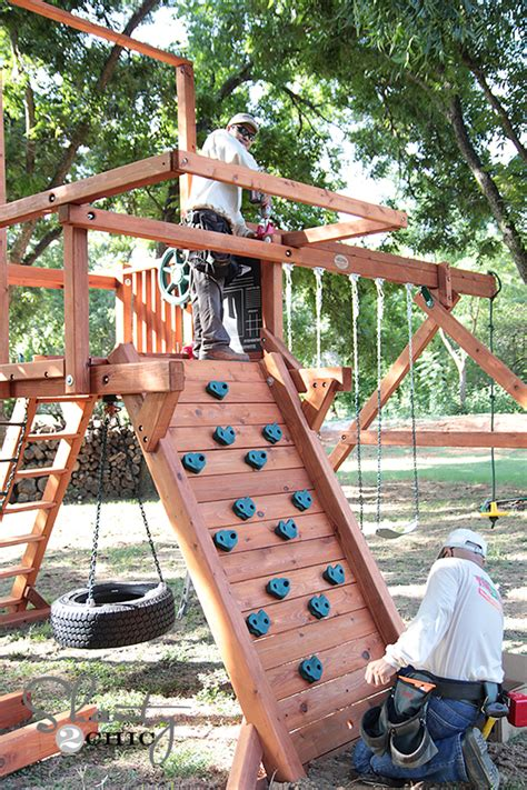 tree frogs swing set come check out my new wood swing set shanty 2 chic