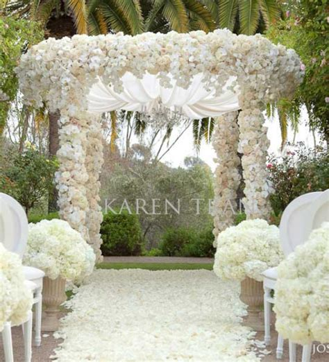 Garden Wedding Decor Ideas Wedding Inspiration An Outdoor Ceremony Aisle Wedding Bells