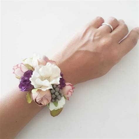how to make flower bracelets with accessories silk flower bracelet 2539483 weddbook