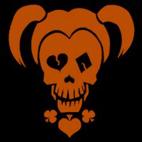 Harley Quinn Pumpkin Template squad harley quinn logo stoneykins pumpkin carving patterns and stencils
