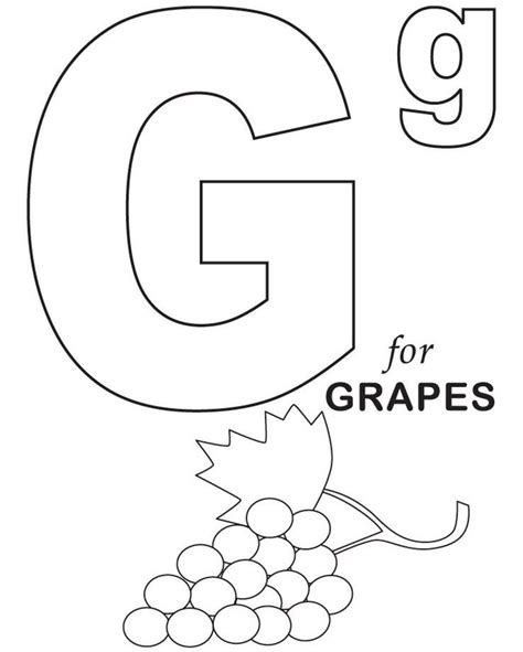 preschool coloring pages grapes 26 best alphabet coloring pages for kids images on