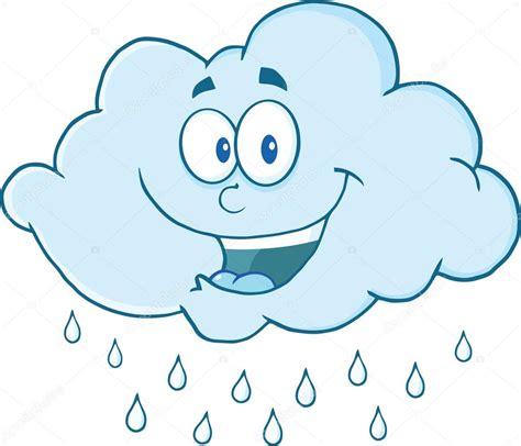 imagenes de invierno dibujos animados nube lloviendo personaje mascota de dibujos animados