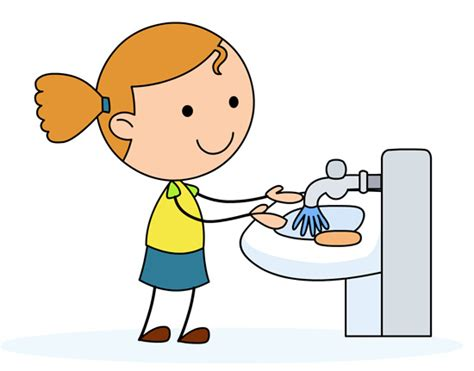 Washing Hair After Coloring - health washing hands in a sink classroom clipart