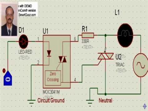 optocoupler load resistor ac load interface to microcontroller