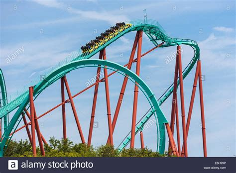 Busch Gardens Theme Park by Kumba Roller Coaster At Busch Gardens Theme Park In Ta Florida Stock Photo Royalty Free