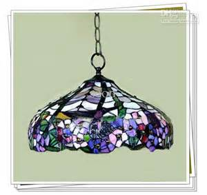 Replacement Glass Shades For Chandeliers Tiffany Style Elegant Stained Glass Pendant Light