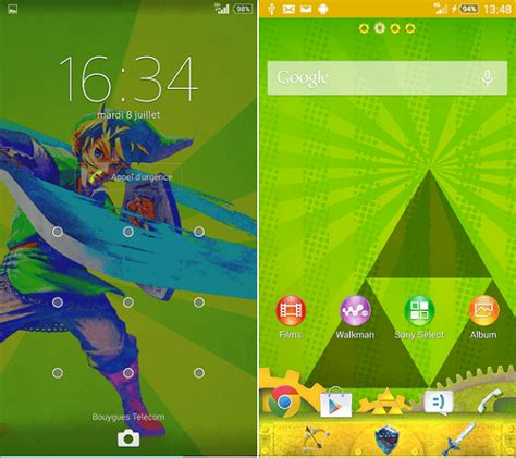 zelda themes for android download xperia theme xspace bubble pirate luminous
