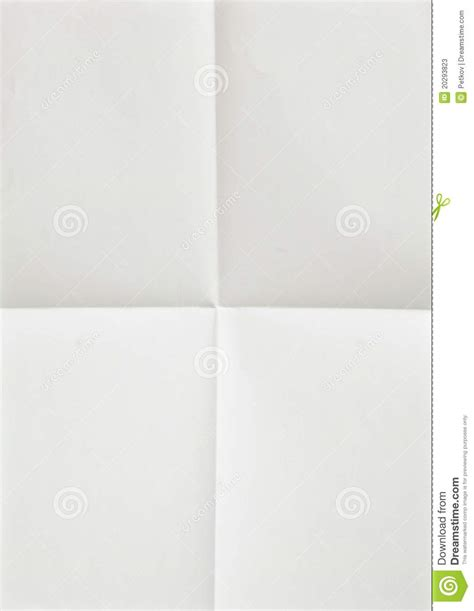 Folded Sheet Of Paper - white sheet of paper folded stock photos image 20293823