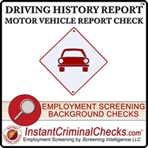 State Department Background Check Dmv Motor Vehicle Report Check Mvr Check