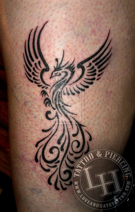 traditional phoenix tattoo tribal by synthetik909 on deviantart