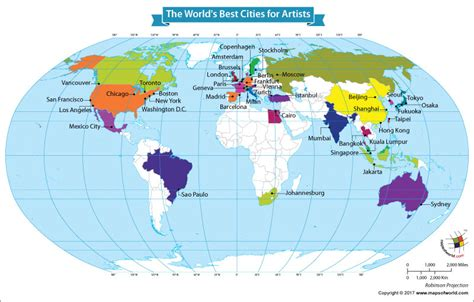 world map top cities is the most attractive city for artists our world