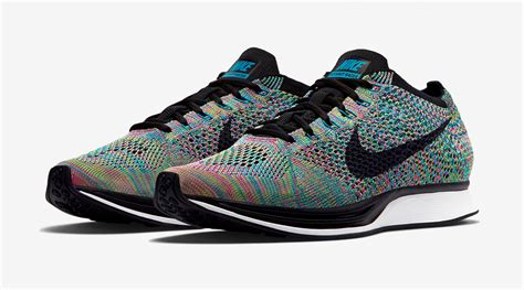 rainbow nike flyknit racers releasing  sole collector