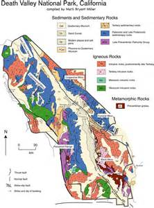 geologic map california geologic map of valley national park california