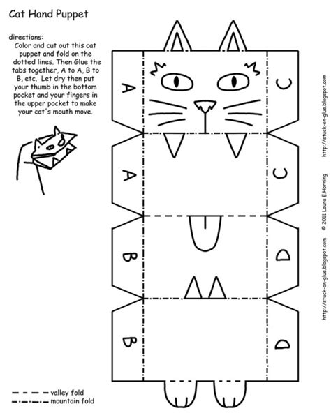 paper bag cat puppet pattern paper bag puppets printables give your octopus a