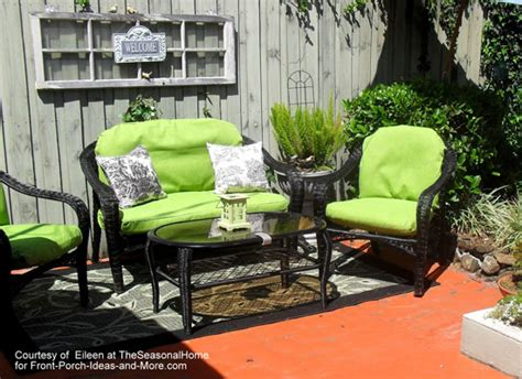 Black Wicker Patio Chairs Summer Decorating Ideas For A Lovely Porch This Season