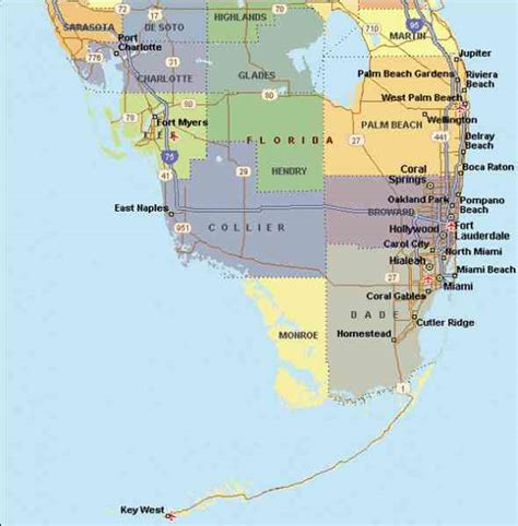 map of south florida and map of south florida map travel holidaymapq
