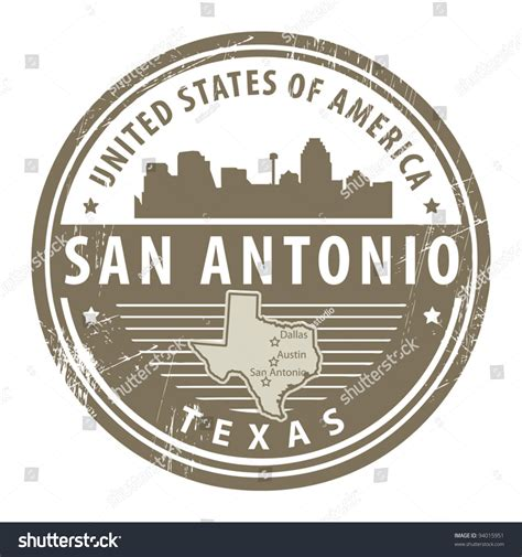 rubber sts san antonio grunge rubber st name san stock vector 94015951