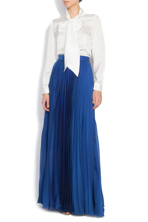 silk skirt fashion skirts pleated silk blend maxi skirt maxi skirts made to measure
