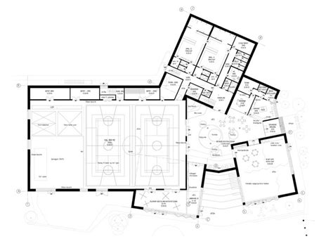 Fitness Center Floor Plan Design by The New Urban Mixed Use Sports Complex Proposal