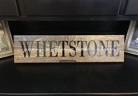 names for vinyl flooring personalized ceramic wood tile sign last name faux wood sign oak style wood tile sign