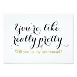 Be My Bridesmaid Template by Custom Will You Be My Bridesmaid Wedding Card Zazzle