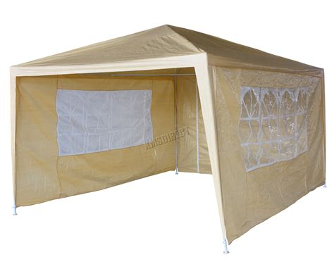 waterproof beige 3m x 4m outdoor garden gazebo tent