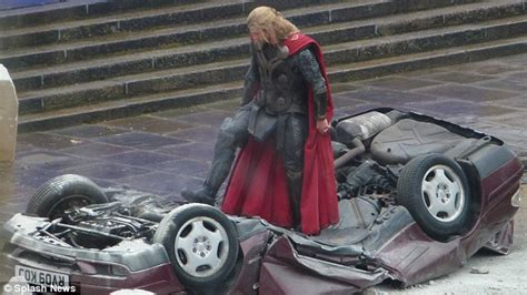 thor film vehicle christopher eccleston unveils new monstrous look on set of