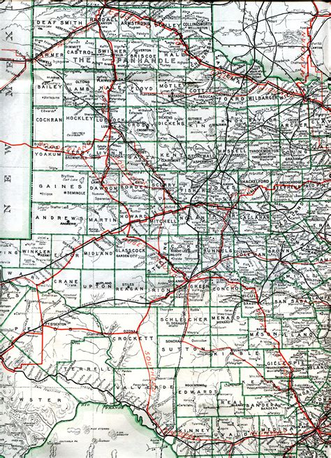 western texas map large map of west texas pictures to pin on pinsdaddy