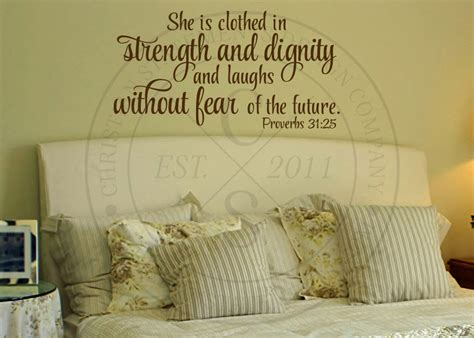 She Is Clothed In Strength And Dignity Wall