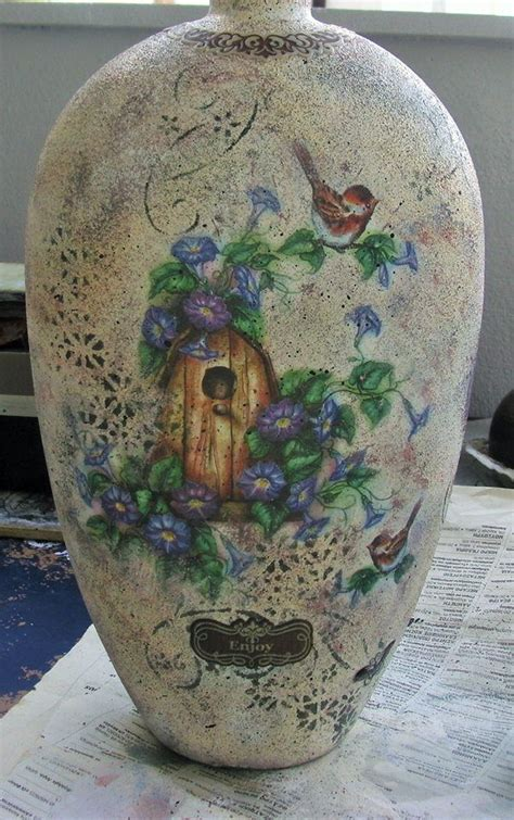 Glass Decoupage - 56 best decoupage water glass images on water