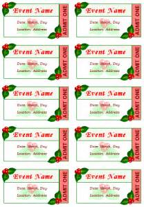 event tickets template free event ticket template templates ticket