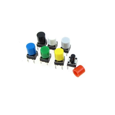Tactile Switch Push Button 12x12x73mm Free Cap tactile button with cap 6mm at mg labs india