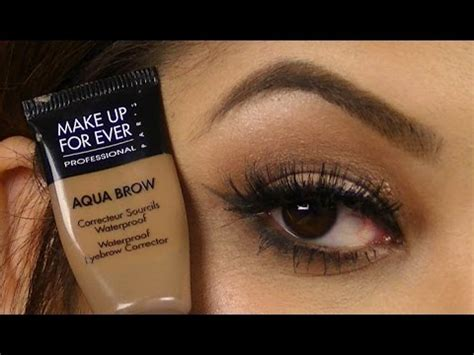 Makeup Forever Eyebrow Gel brow routine make up for aqua brow