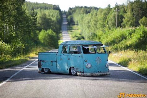 volkswagen pickup slammed slammed vw truck vw t1 pickup doublecab doka