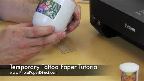 temporary tattoo paper youtube temporary tattoo paper tutorial by photo paper direct