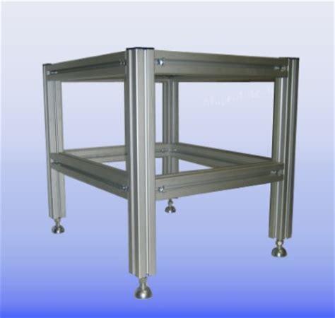 gestell aus alu profilen aluprofiltechnik anwendungsbeispiel aluprofil aluminium